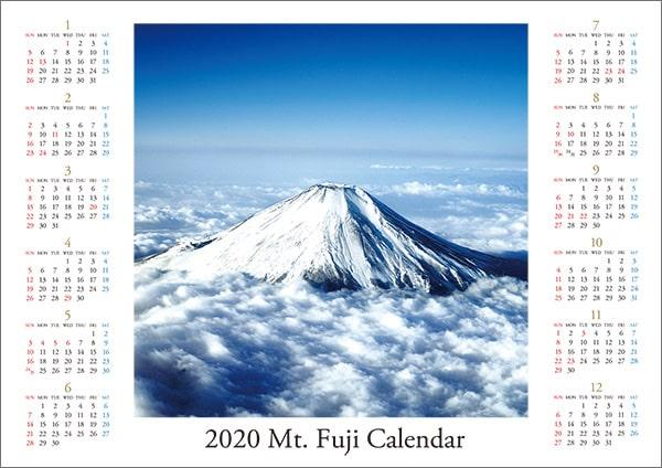 富士山の写真のポスターカレンダー
